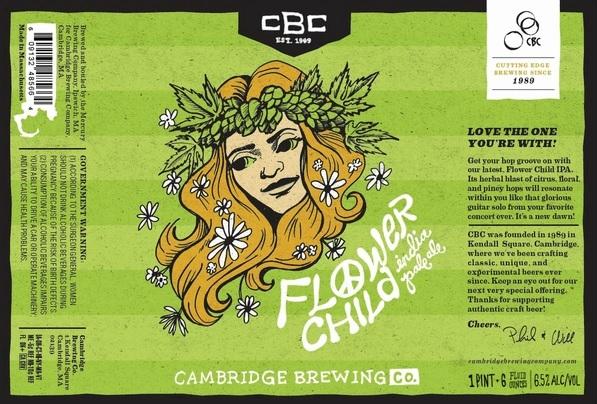 Cambridge Flower Child IPA beer Label Full Size