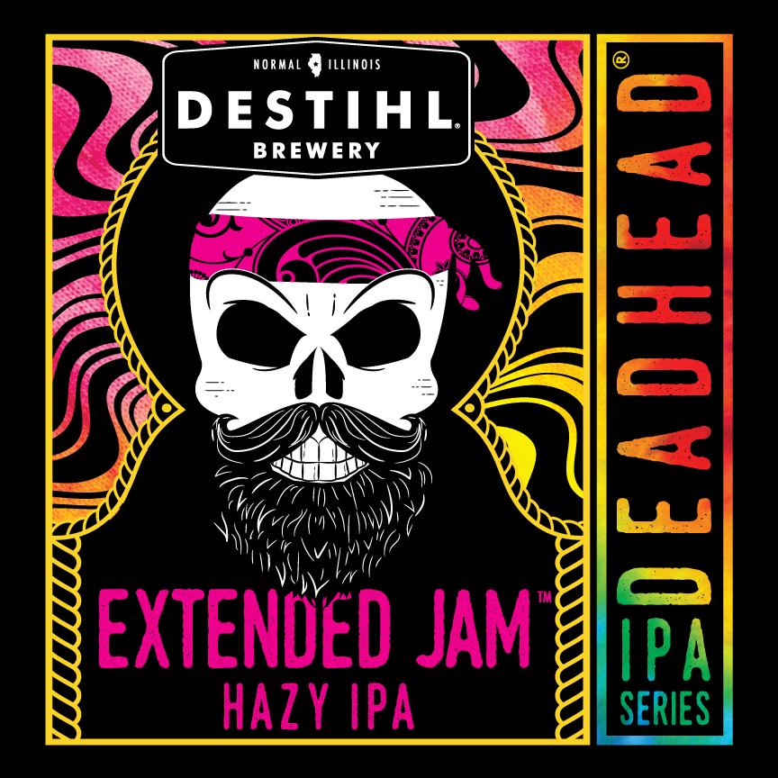 DESTIHL Deadhead IPA Series: Extended Jam Hazy IPA beer Label Full Size
