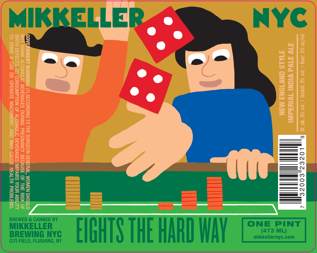 Mikkeller NYC Eights The Har Way beer Label Full Size