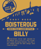 Boisterous Billy IPL beer