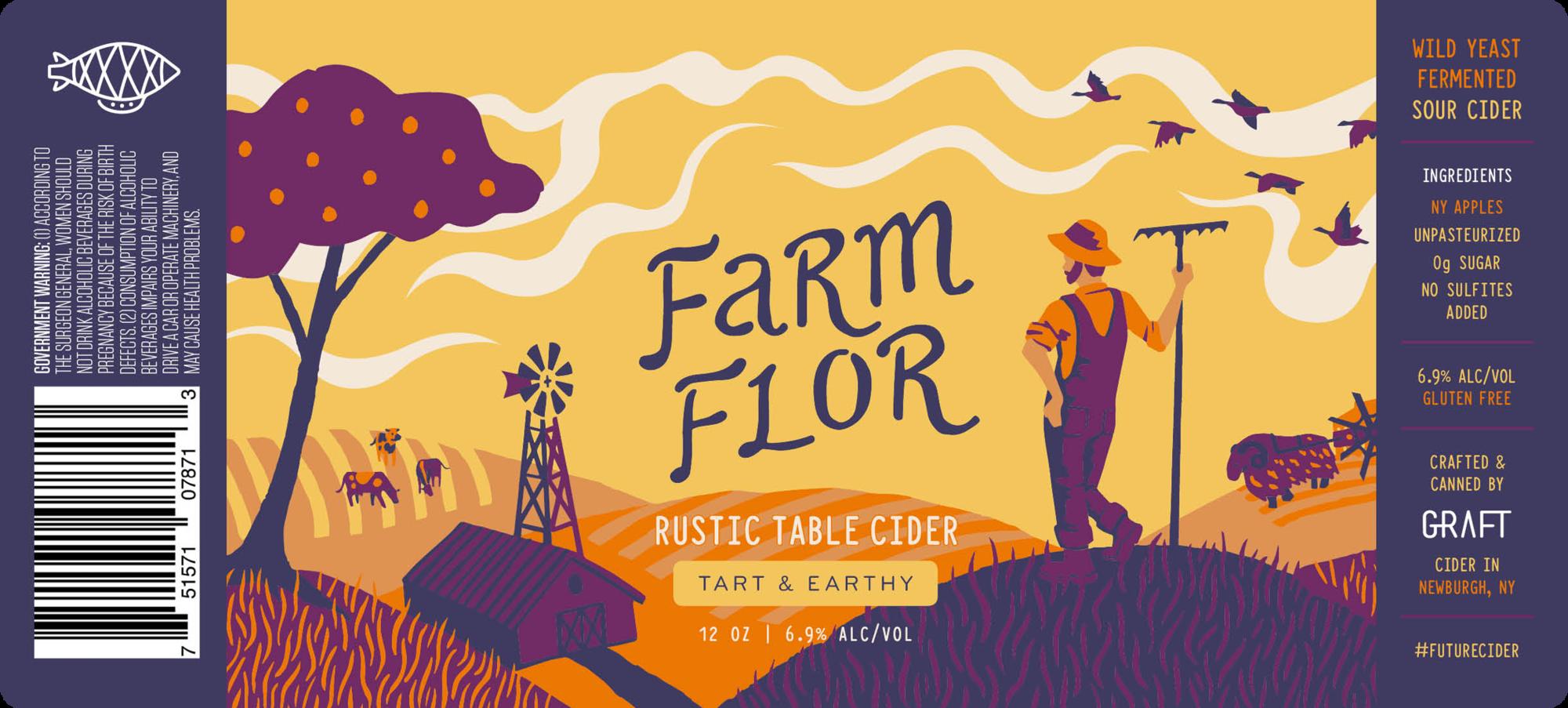 Graft Farm Flor beer Label Full Size