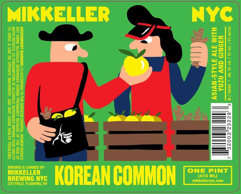 Mikkeller NYC Korean Common beer Label Full Size