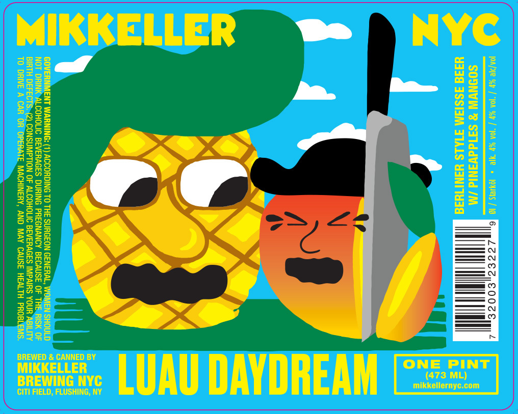 Mikkeller NYC Luau Daydream beer Label Full Size