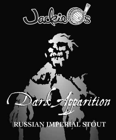 Jackie O's Dark Apparition beer Label Full Size