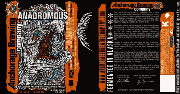 Anchorage Anadromous beer Label Full Size