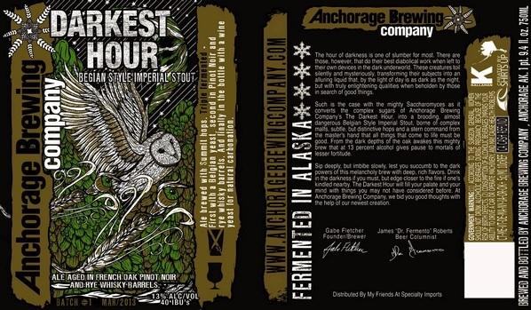 Anchorage Darkest Hour beer Label Full Size