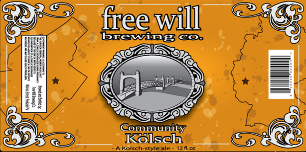 Free Will Kolsch beer Label Full Size