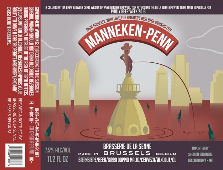 De La Senne Manneken-Penn beer Label Full Size