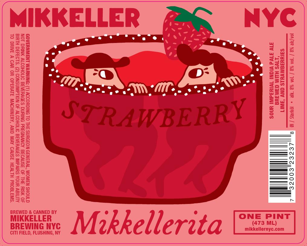 Mikkeller NYC Strawberry Mikkellerita beer Label Full Size