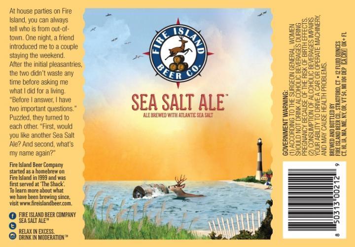Fire Island Sea Salt Ale beer Label Full Size