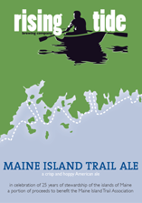 Rising Tide Maine Island Trail Ale beer Label Full Size