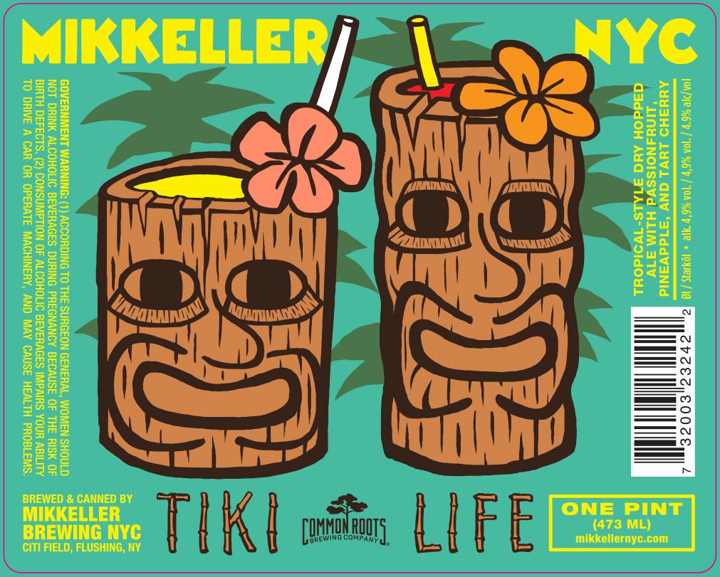 Mikkeller NYC Tiki LIfe beer Label Full Size