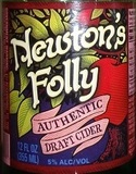 Newton's Folly Authentic Draft Cider beer