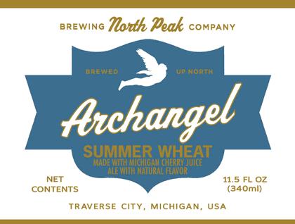 North Peak Archangel beer Label Full Size