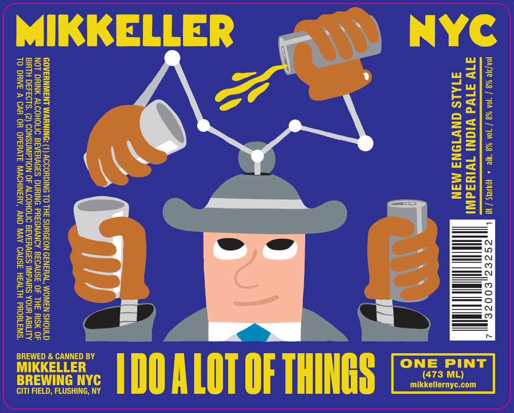 Mikkeller NYC I Do A Lot Of Things beer Label Full Size