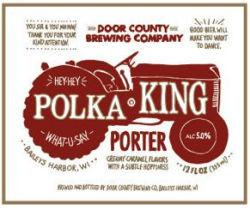 Door County Polka King Porter beer Label Full Size