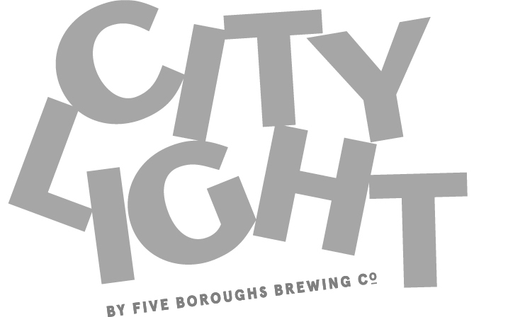 Five Boroughs City Light beer Label Full Size