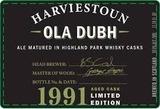 Harviestoun Ola Dubh 1991 beer