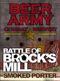 Beer Army Battle Of Brock's Mill beer Label Full Size