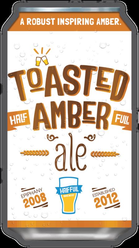 Half Full Toasted Amber Beer