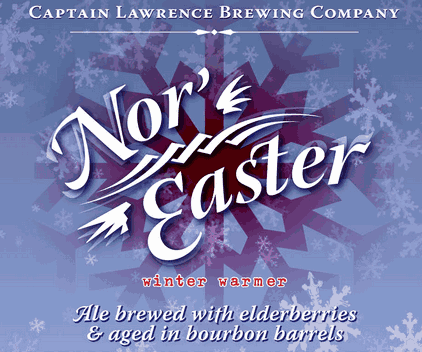 Captain Lawrence Nor' Easter beer Label Full Size