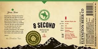 Elevation 8 Second beer Label Full Size