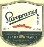 Staropramen Czech Lager beer