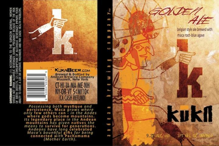 Andean Kuka Golden Ale beer Label Full Size