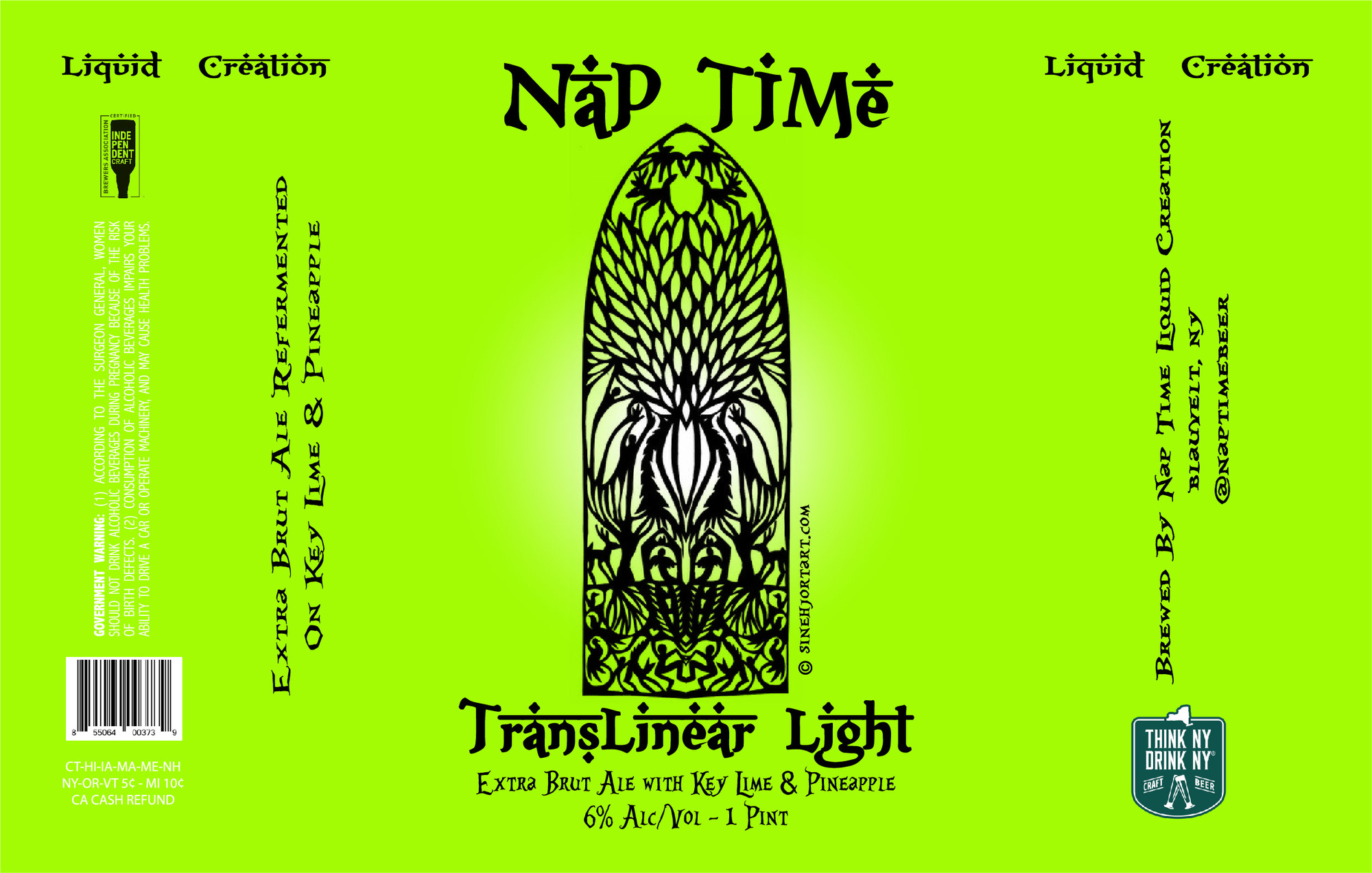 Nap Time - Translinear Light beer Label Full Size