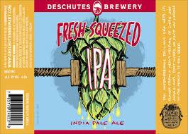 Deschutes Fresh Squeezed IPA beer Label Full Size