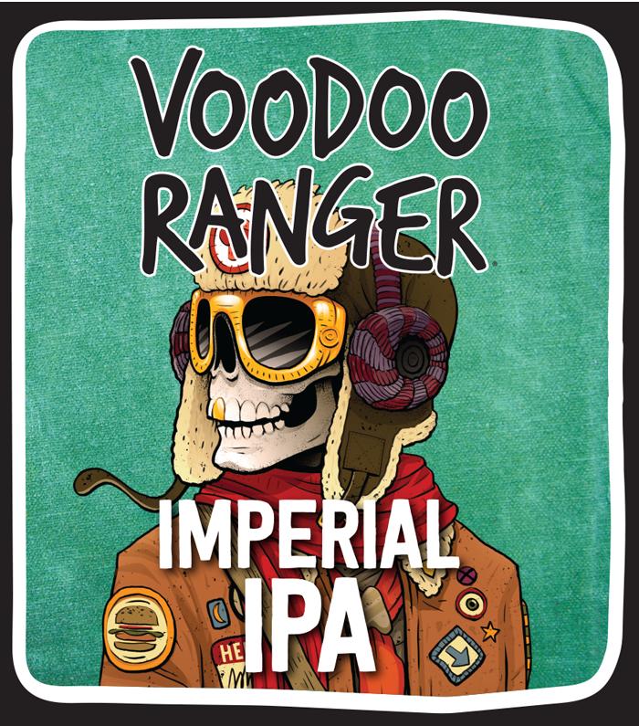 New Belgium Voodoo Ranger Imperial IPA beer Label Full Size