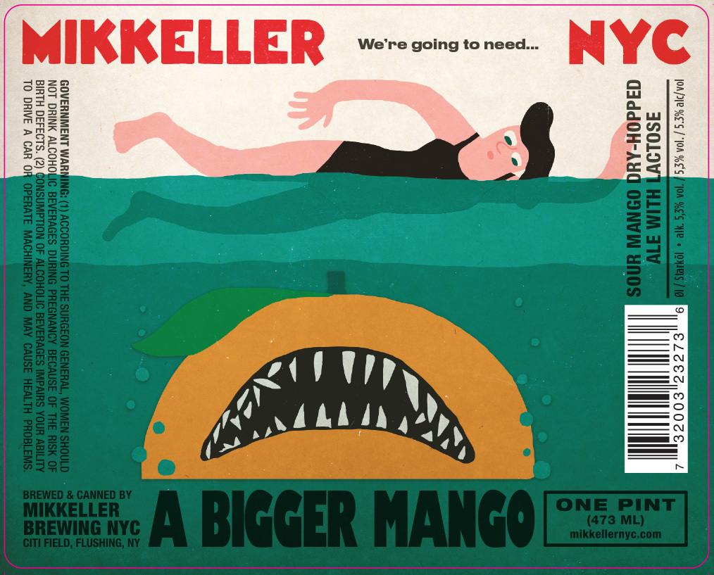 Mikkeller NYC We're Going To Need A Bigger Mango beer Label Full Size