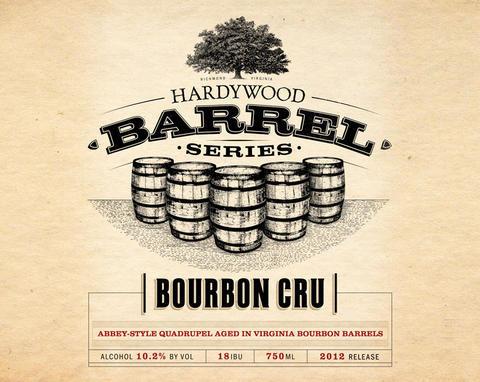 Hardywood Park Bourbon Cru beer Label Full Size