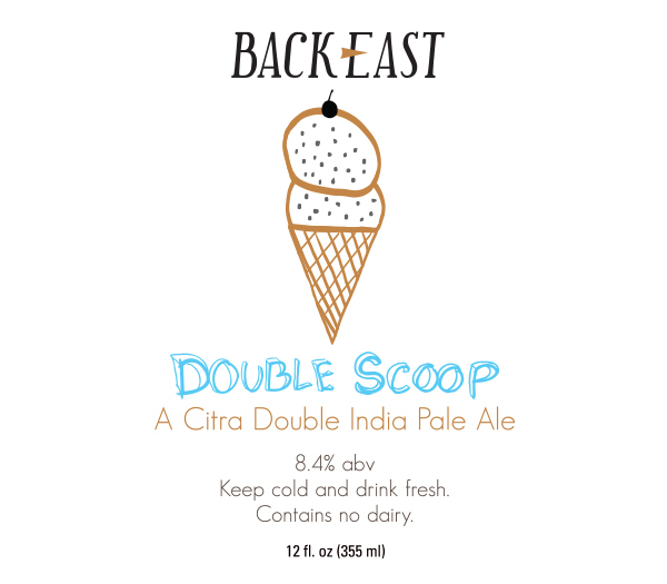 Back East Double Scoop beer Label Full Size