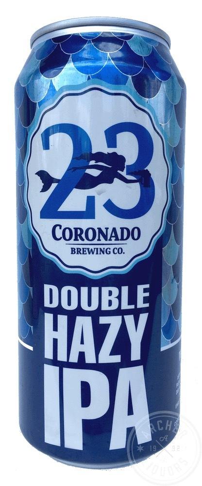 Coronado 23rd Anniversary Double Haze IPA beer Label Full Size
