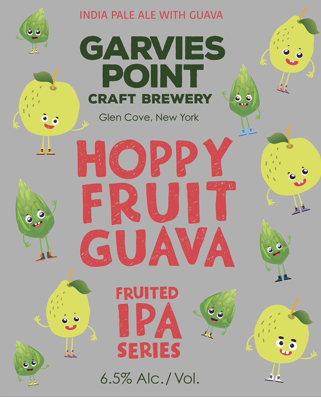 Garvies Point Hoppy Fruit Pink Guava beer Label Full Size