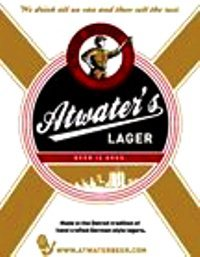 Atwater Lager beer Label Full Size