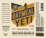 Great Divide Oatmeal Yeti Beer