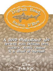 Dogfish Head Raison D'Etre beer Label Full Size