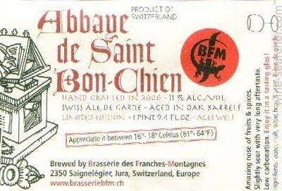 BFM Abbaye de Saint Bon-Chien 2012 beer Label Full Size
