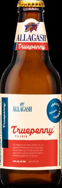 Allagash Truepenny Pilsner beer Label Full Size