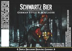 Devils Backbone Schwartzbier beer Label Full Size