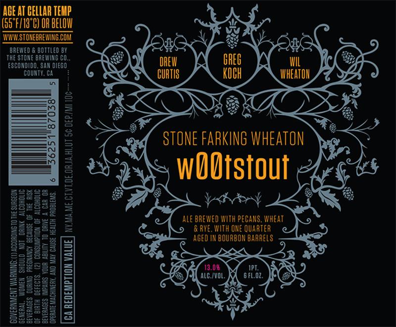Stone Farking Wheaton W00tstout beer Label Full Size