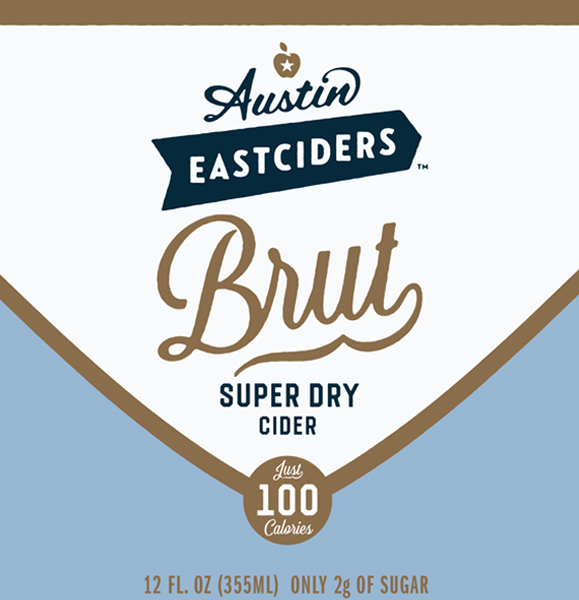 Austin Eastciders: Brut Super Dry beer Label Full Size