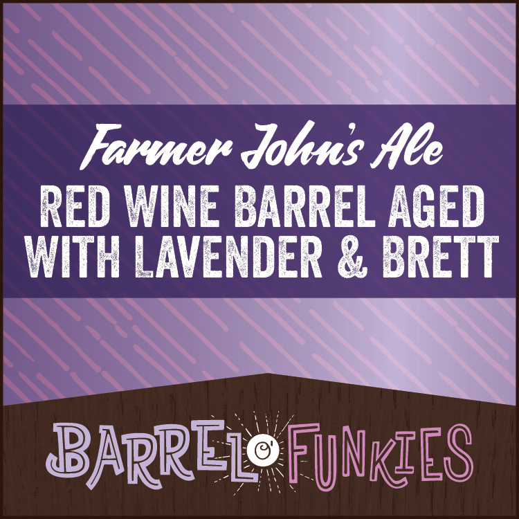 Confluence Farmer John's Multi Grain Ale- Red Wine BA W/ Lavender & Brett beer Label Full Size