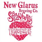 New Glarus Strawberry Rhubarb beer Label Full Size