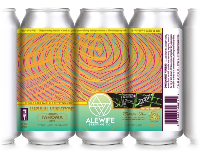 Alewife Lupulin Vibrations Tahoma beer Label Full Size