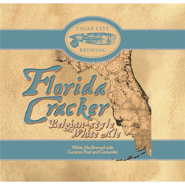 Cigar City Florida Cracker beer Label Full Size