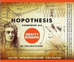 Hopothesis Drafty Window beer Label Full Size