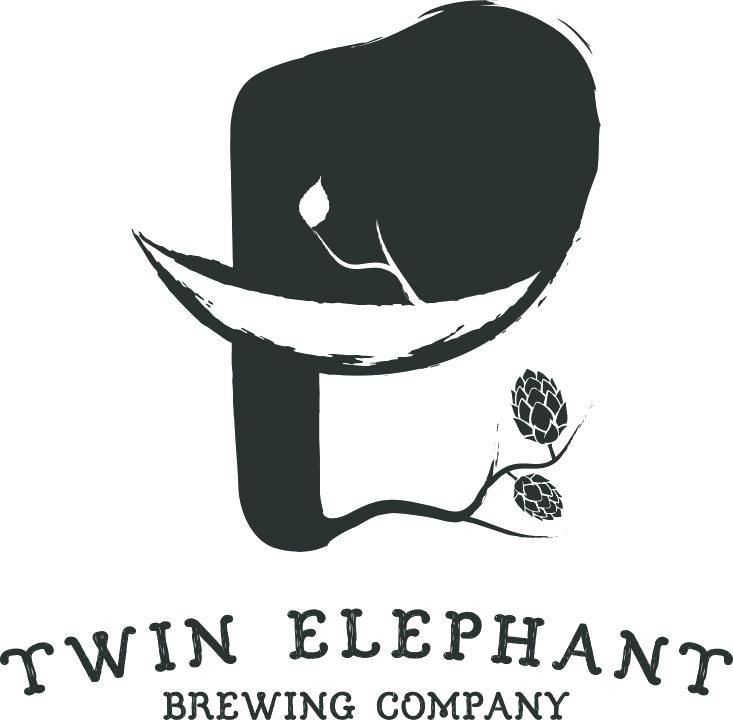 Twin Elephant Beautiful Oblivion beer Label Full Size
